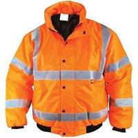 Scan Mens High Vis Bomber Jacket Orange L