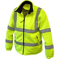 Scan Mens High Vis Fleece Jacket Yellow L