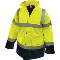 Scan High Vis Motorway Jacket Yellow / Black L