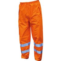 Scan High Vis Waterproof Motorway Trousers Orange L