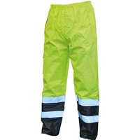 Scan High Vis Waterproof Motorway Trousers Yellow / Black L