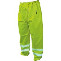 Scan High Vis Waterproof Motorway Trousers Yellow 2XL