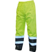 Scan High Vis Waterproof Motorway Trousers Yellow / Black M