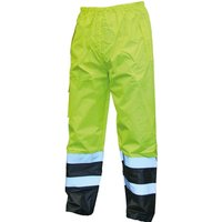 Scan High Vis Waterproof Motorway Trousers Yellow / Black XL