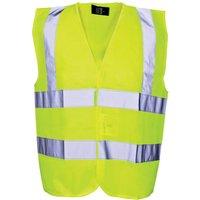 Scan Childrens Hi Vis Waistcoat EN471 Class 2 Yellow 10 - 13
