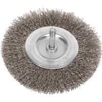 Sealey Flat Stainless Steel Wire Brush 100mm 6mm Shank