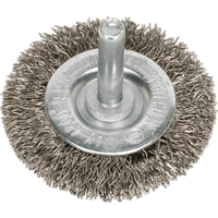 Sealey Flat Stainless Steel Wire Brush 50mm 6mm Shank