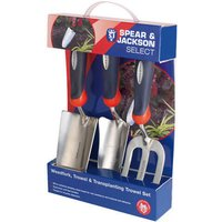 Spear and Jackson 3 Piece Select Stainless Steel Hand Trowel and Weedfork Set