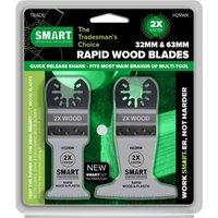 Smart 2 Piece Rapid Wood Blade Oscillating Multi Tool Blade Set