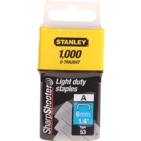 Stanley Light Duty Staples 6mm Pack of 1000