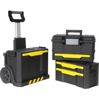 Stanley Rolling Wheeled Workshop Tool Box Stack