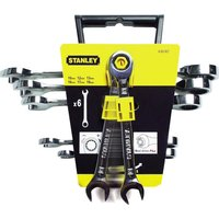 Stanley 6 Piece Ratchet Combination Spanner Set Metric
