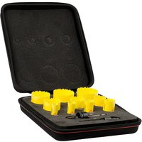 Starrett KDC10022 12 Piece Deluxe Plumbers Hole Saw Set
