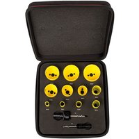 Starrett KFC11022 13 Piece Deluxe Plumbers Hole Saw Set