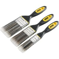 Stanley Dynagrip 3 Piece Synthetic Paint Brush Set