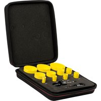 Starrett KFC11021 13 Piece Deluxe Electricians Hole Saw Set