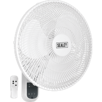 Sealey SWF16WR Remote Control Wall Fan 3 Speed 16