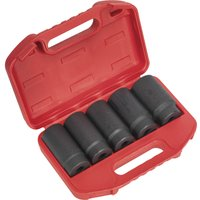 Sealey 5 Piece 1/2 Drive Hub Nut Impact Socket Set Metric 1/2