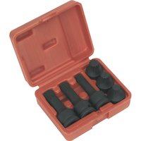 Sealey 6 Piece 1/2 Drive Impact Spline Socket Set 1/2