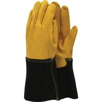 Town and Country Mens Leather Palm Gauntlet One Size