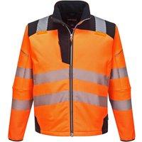PW3 Hi Vis Soft Shell Winter Rain Jacket Orange / Black L