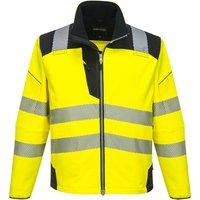 PW3 Hi Vis Soft Shell Winter Rain Jacket Yellow / Black 6XL