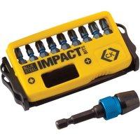 CK Blue Steel 10 Piece Impact Screwdriver Bit Set