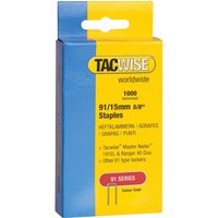Tacwise Type 91 Narrow Staples 15mm Pack of 1000