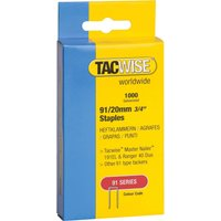 Tacwise Type 91 Narrow Staples 20mm Pack of 1000