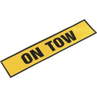 Sealey Magnetic On Tow Sign 520mm 115mm Reflective