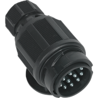 Sealey 13 Pin Twin Inlet Euro Towing Plug Plastic 12v