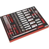 Sealey 79 Piece Combination Drive Socket Set Metric in Module Tray Combination