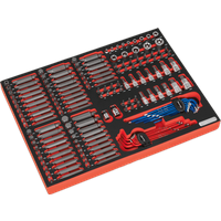 Sealey TBTP07 177 Piece Screwdriver Bit and Socket Set in Module Tray 1 4