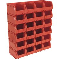 Sealey Plastic Storage Bin 103 x 85 x 53mm RED 24