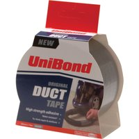 Unibond Duct Tape Pack of 2 Rolls Silver 50mm 50m