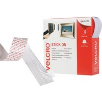 Velcro Brand Stick On Tape White 20mm 10m Pack of 1