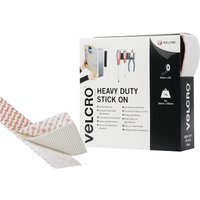 Velcro Brand Heavy Duty Stick On Tape White 50mm 5m Pack of 1