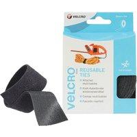 Velcro Self Gripping Ties Black 30mm 5m Pack of 1