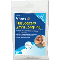 Vitrex Long Leg Tile Spacers 2mm Pack of 500