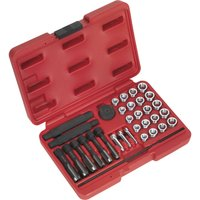 Sealey 33 Piece Glow Plug Thread Repair Tool Kit