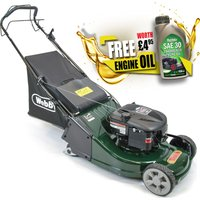 Webb WERR19SP Self Propelled Petrol Rotary Lawnmower 475mm FREE Engine Oil Worth 4.95