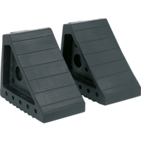 Sealey Rubber Wheel Chocks 1.8kg Pack of 2
