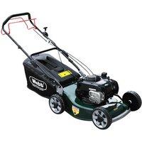 Webb WER19ALSP Petrol Alloy Deck Rotary Lawnmower 480mm FREE Engine Oil Worth £4.95