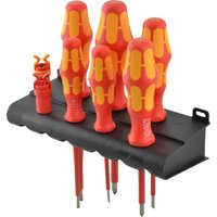 Wera 6 Piece Kraftform VDE Insulated Screwdriver Set