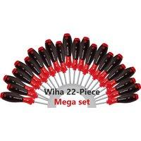 Wiha 22 Piece MEGA Soft Grip Screwdriver Set