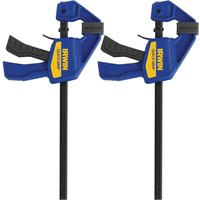 Irwin 2 Piece Quick-Grip Mini One Handed Clamp 150mm