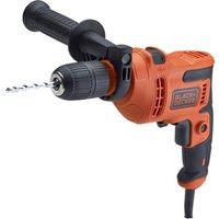 Black and Decker BEH200TB Hammer Drill and 8 Piece Drill Bit Set 240v