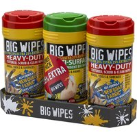 Big Wipes 3 Pack Scrub and Clean Antibacterial Heavy Duty Hand Wipes 25% Extra Free