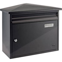 Yale Texas Wall Mountable Postbox Black