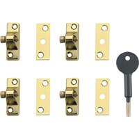 Yale Locks 8K118 Economy Window Lock Brass Pack of 4
